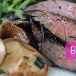 Biefstuk champignons proteine dieet recept