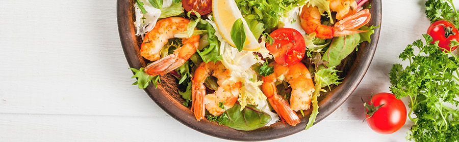 dieet salade garnalen