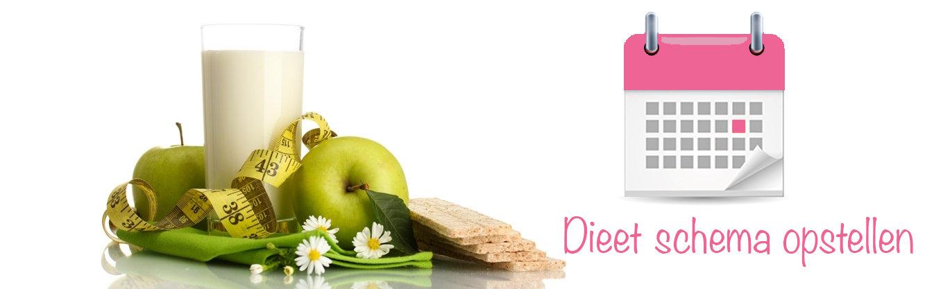 dieet schema maken