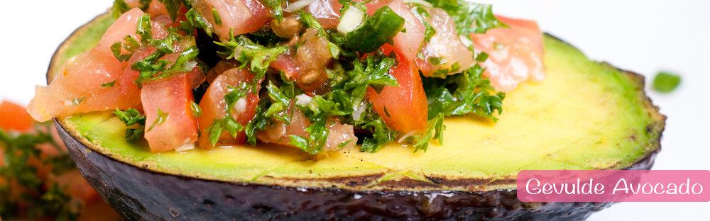 proteine dieet recept gevulde avocado