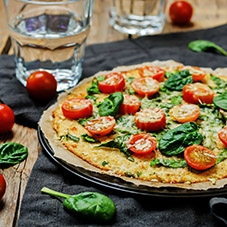 proteine-dieet-recept-bloemkoolpizza