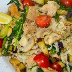 Tagliatelle met verse groenten en kip Novashops gerecht