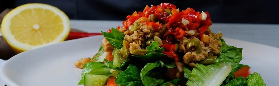proteine-dieet-recept-pittige-tonijnsalade
