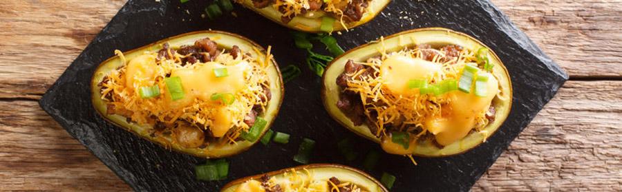 keto lunch recept gevulde mexicaanse taco's